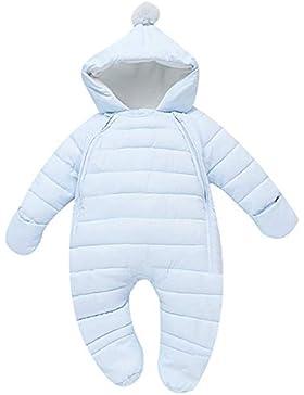 G-Kids Baby Schneeanzüge Daunenanzug Winter Overall Strampler mit Kapuze Mädchen Jungen Winterjacke Jumpsuit