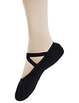 Scarpe da Balletto, Scarpe Danza Classica in Morbida Tela Scarpette da Ballo da Ginnastica con Suola in Pelle...