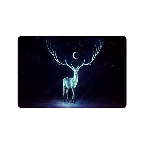 (deyhfef Deer Night Moon Galaxy Durable Home Indoor/OutdoorFloor Mat Doormats 23.6 x 15.7 inches(Small))