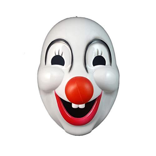 Starall Maske eine Halloween Party Hartplastik Clown Masken Halloween Maske Clown Kostüm 46g (Halloween Geist Maske Clown)