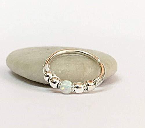 Helix Ohrring Tragus Opal Nasenring Septum Ring Silber Gold 0.6-1.2mm