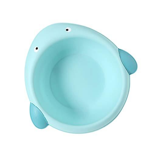 D DOLITY Waschschüssel Baby tragbares Waschbecken Plastik - Wal blau