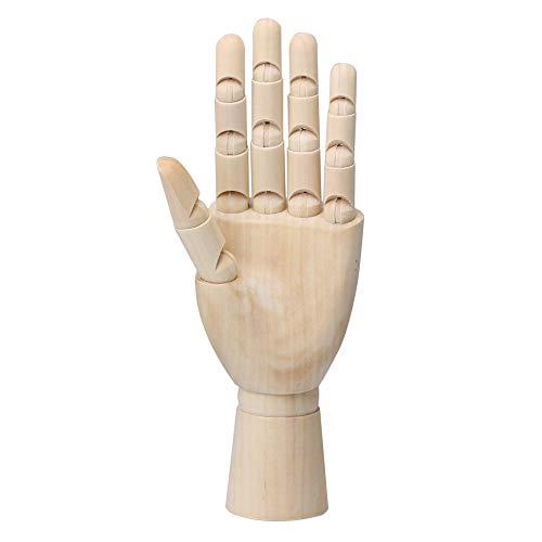 """BQLZR 8 """"Holz linke Hand K?rper K¨¹nstler Modell verbunden beweglichen Finger Holz Skulptur Schaufensterpuppe"""