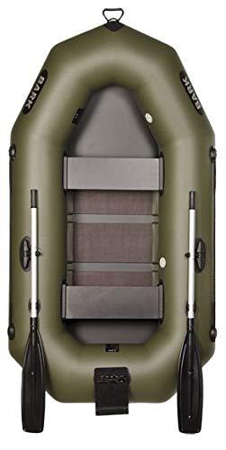 BARK Schlauchboot B-230CN für 2 Personen 2.3 m 230 cm Paddelboot Ruderboot Motorboot Angelboot Profi (B-230CN Lattenboden Heckspiegel)