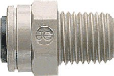 John Guest Straight Adaptor 3/8 inch Tube OD x 3/8 inch NPTF Male Thread (one individual) by John Guest -
