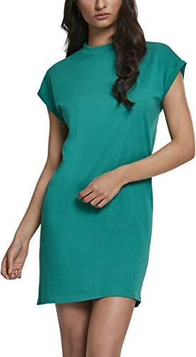 Urban Classics Ladies Turtle Extended Shoulder Dress, fresh green, S Classic-kleid Kleid