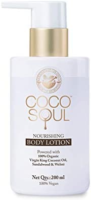 Coco Soul Beauty Nourishing Body Lotion With Virgin King Coconut Oil (Vegan, Sulphate & Paraben Free), 20