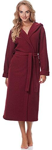 Merry Style Femmes Peignoir de Bain avec Capuche 3S4R3N4 Bordeaux