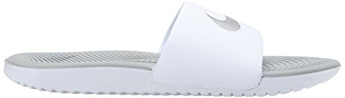 Nike Womens Kawa Slide Synthetic Sandals Weiß Silber