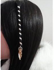 Accessoire cheveux médiévale coiffures celtiques + 2 planches de tatouages  temporaire GRATUITES rajoutées automatiquement à votre
