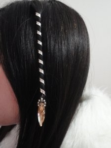 Accessorio capelli medievale pettinature celtici + 2fogli di tatuaggi temporanea gratuite rajoutées automaticamente a vostro pacco. treccia e spirale medievale argento ornee di strass swarovski salmone.