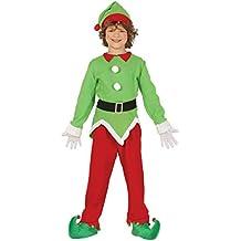 Guirma Costume da Elfo Folletto aiutante Babbo Natale Bambino 68a13148b3f6