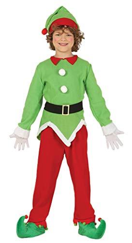 Guirma Costume da Elfo Folletto aiutante Babbo Natale Bambino