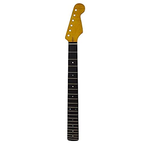 Kmise Gloss Yellow Electric Guitar Neck 22 Frets Rosewood Fretboard