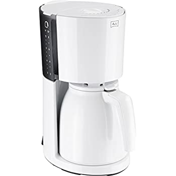 Melitta 100208 Enjoy Therm Kaffeefiltermaschine -Thermkanne -Aromaselector weiß