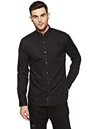 Park Avenue Black Slim Cotton Casual Shirts