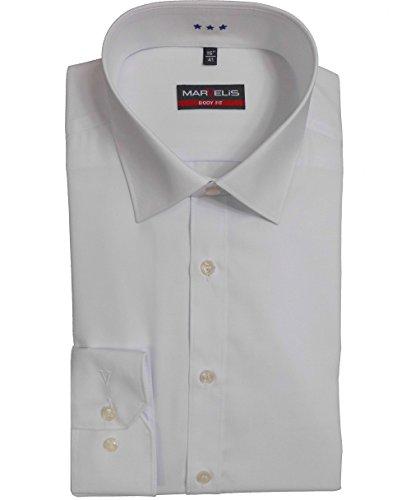 extra slim fit hemden Marvelis Hemd Body Fit weiss 6799.69.00 extra langer Arm 69 cm, Kragenweite / Größe:42 / L