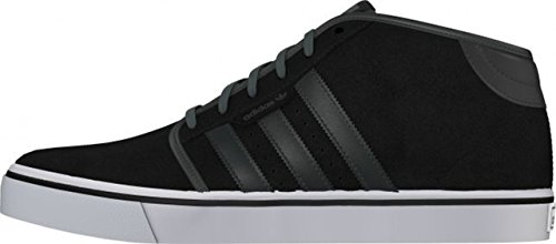 adidas Originals Men's Seeley Mid Black, Dark Grey and White Leather Sneakers - 8 UK  available at amazon for Rs.3599
