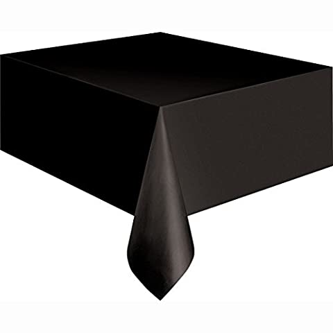 Kunststoff-Tischdecke, ca. 2,7m x 1,4m., schwarz, Einheitsgröße