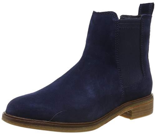 Clarks Damen Clarkdale Arlo Chelsea Boots, Blau Navy Suede, 39.5 EU -