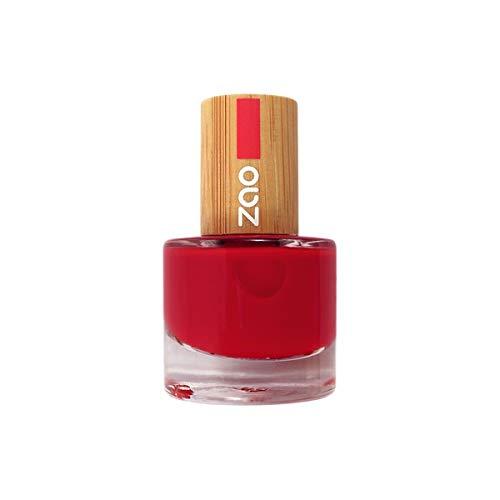 Zao MakeUp - Vernis à ongles Rouge carmin 650-8Ml - Vendu par pièce - Livraison Gratuit en France