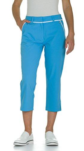 Bonnie Blue Stoffen (JELFY Simona Damen-Golfhose, 3/4 lang, gerade geschnitten, aus technischem Stretchstoff, Bonnie Blue (XL, Bonnie Blue))
