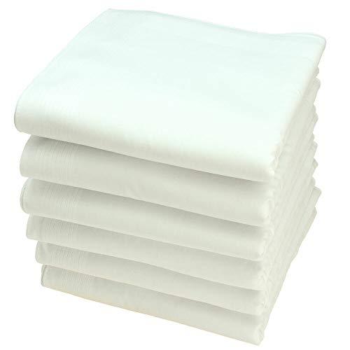 Royal Quality Stofftaschentücher 6 Stück ca.40x40cm reine Baumwolle Herrentaschentücher Weiss
