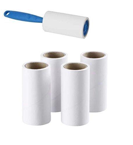 2x IKEA Fusselroller + 4klebende Ersatz-Zahnbürstenköpfe einfach und entfernt schnell Tierhaare, Staub und Flusen von Kleidungsstücken, Möbeln und Autositzen