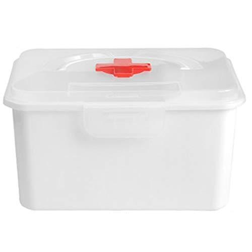 Lxrzls cassetta di pronto soccorso medica cassetta di immagazzinaggio for uso domestico scatola di immagazzinaggio multistrato portatile di grande capacità (color : white)