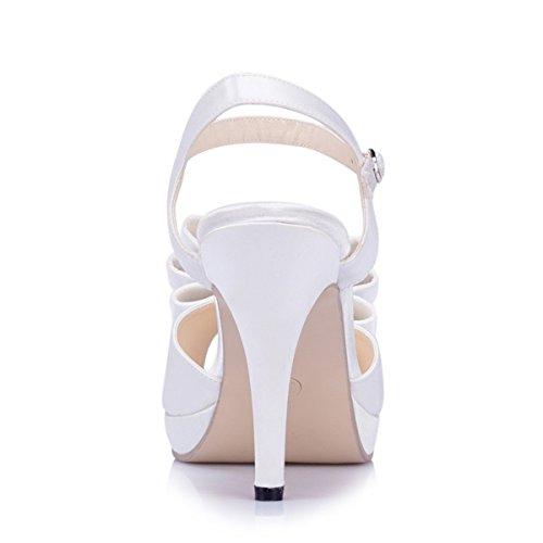 Kevin Fashion , Chaussures de mariage à la mode femme Blanc Cassé - Blanco - blanco