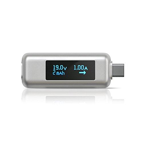 Satechi USB-C Powermeter kompatibel mit MacBook Pro, 2015/2016/2017 MacBook, iMac Pro, iMac, Lenovo Yoga, Samsung S9 Plus, 2018 iPad Pro, 2018 MacBook Air & andere