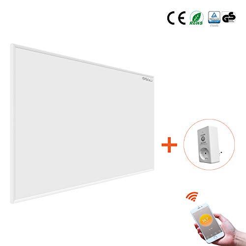 Byecold Infrarotheizung mit WiFi Thermostat 900W Infrarot Heizplatte Smart Wandheizung Energiesparend Überhitzungsschutz Carbon Crystal mit RoHS CE GS