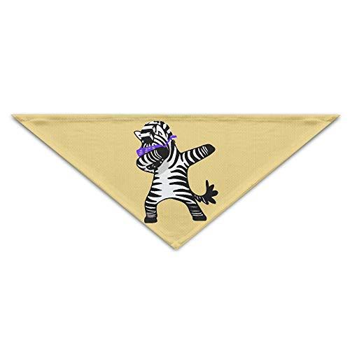 Benutzerdefinierte Link Kostüm - Hectwya Cute Hip Hop Zebra Dance Mehrfarbige Haustierbandanas für Ihren Hund oder Ihre Katze klein bis mittelgroß