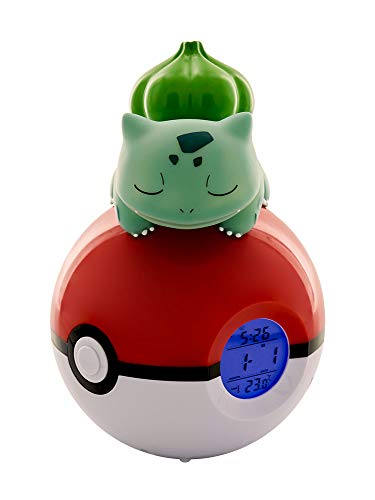Teknofun 811367 Pokemon Wecker, Green - Elektronische Pokemon Spielzeug