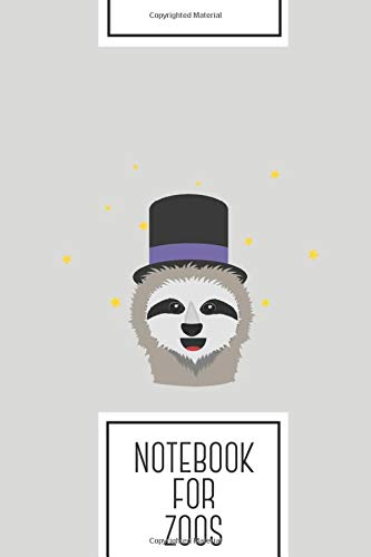 Notebook for Zoos: Lined Journal with Sloth Wizard with hat Design - Cool Gift for a friend or family who loves magic presents! | 6x9