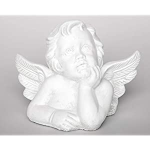 31W8hzf9gFL. SS300  - Garden ornament Angel, Cast stone, antique white