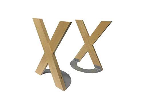 QWE Regal, Lagerregal Creative Massivholz X-Förmiges Bücherregal Bücherregal Bücherregal (Farbe: Zwei),Holz,Zwei