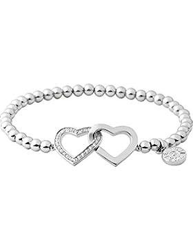 JETTE Silver Damen-Armband Moments of love 925er Silber rhodiniert 23 Kristall One Size, silber