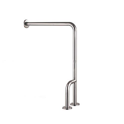 DENGDAI 304 Edelstahl-Sandfläche Badezimmersicherheit Anti-Gleit-Greifer Schiilen-Toilette Elfmeterbehinderte Griffe für Behinderte,leftside