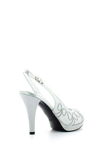 Grace Shoes 1880 Sandalia De Tacón Plateado Para Mujer