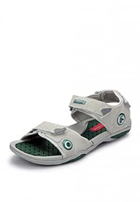 Wave Walk Men's Faux leather Green Sandals -6