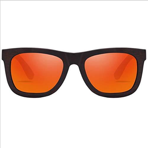 Yiph-Sunglass Sonnenbrillen Mode Retro-Unisex-Sonnenbrillen aus Holz handgefertigt Herren und Damen polarisierten Sonnenbrillen UV-Schutz Fahren Sonnenbrillen Strand Sonnenbrillen. (Farbe : Orange)