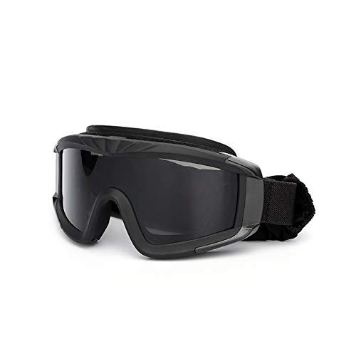 Daesar Unisex Schutzbrille Winddicht Schwarz Brille Motorrad Herren Schießbrille Sportschützen