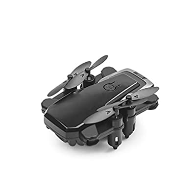 LKDKJ RC Drone And Camera WIFI FPV Four-Axis Aircraft And 720P HD Camera Foldable 2.4Ghz 6-Axis Gyroscope Air Pressure Fixed Speed Adjustment,Black