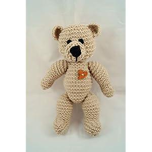 Hand gestrickter Teddybär Traditioneller Teddybär Baby Shower Geschenk Neues Baby Geschenk Geschenk für Kinder Gestricktes Kuscheltier Baby Foto Requisite