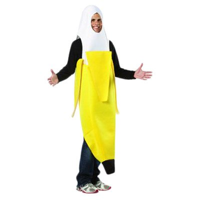 Banane Kostüm Rasta Imposta (Rasta Imposta 6549 Geschälte Banane, gelbes Kostüm für Erwachsene)