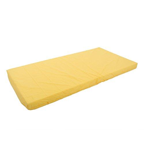 Kinderbettmatratze 60x120 / 70x140 Kindermatratze Babymatratze Reisebettmatratze (120x60x6 cm, gelb)