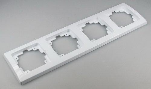 DELPHI Rahmen weiß für Serie Unterputz Mehrfach-Rahmen Elektroinstallation passend für Komponenten Schalter Steckdosen Taster Netzwerk Dimmer USB Dose