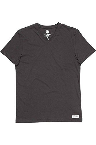 Herren T-Shirt Element Basic V T-Shirt Black