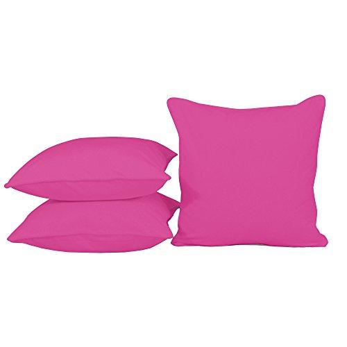 Sitzkissen Kissen OUTDOOR Wetterfest 50x50 cm Zierkissen Gartenstuhl Auflagen (Pink #485)